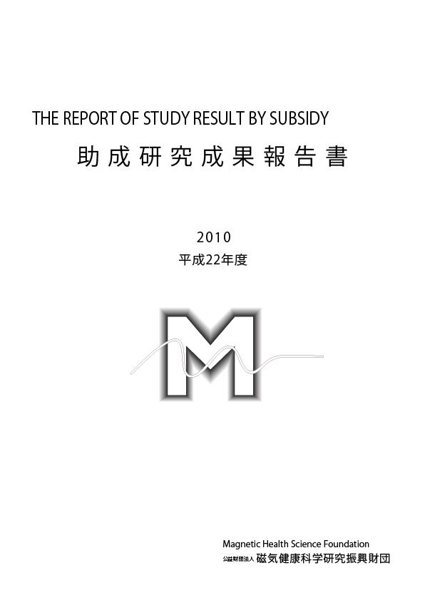 平成22年度 研究成果報告書